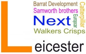 SEO banner showing names of leicester businesses
