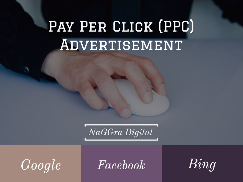 PPC advertisements Google facebook